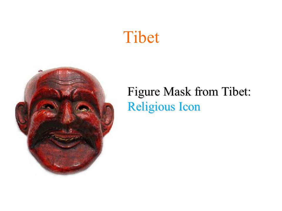 Figure Mask from Tibet: Religious Icon Tibet