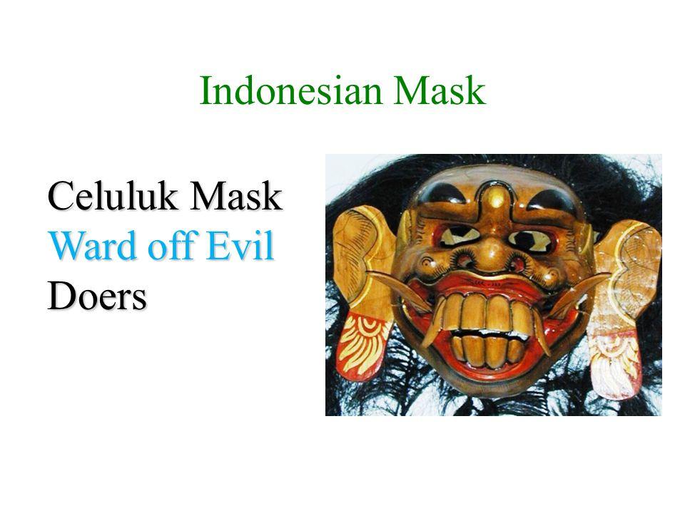 Indonesian Mask Celuluk Mask Ward off Evil Doers