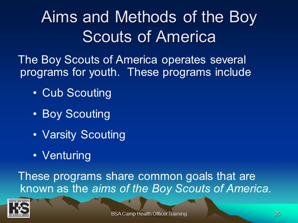 1 BSA Camp Health Officer Training Boy Scouts of America National ...