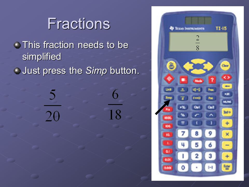 How To Use The TI 15 Calculator. Basic Steps This Presentation is ...