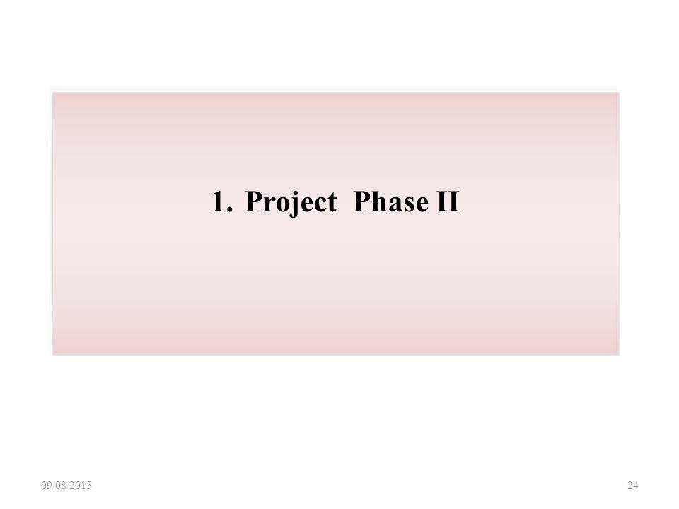 09/08/ Project Phase II