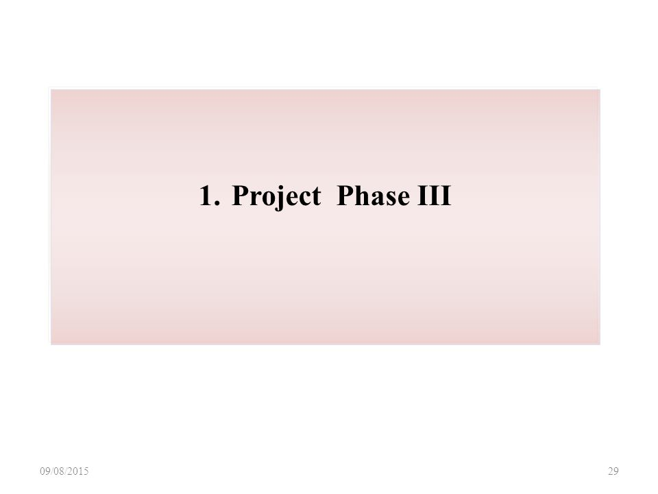 09/08/ Project Phase III
