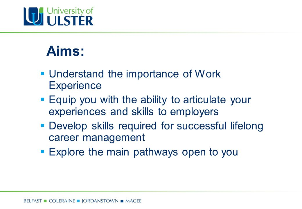 Developing your employability skills career development centre 2 aims understand yelopaper Choice Image