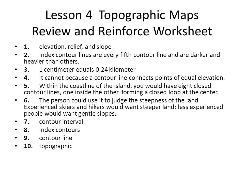 Worksheets Topographic Map Worksheet Answers earth science topographic map worksheet 3 answers intrepidpath 39 s surface chapter 1 mapping review and