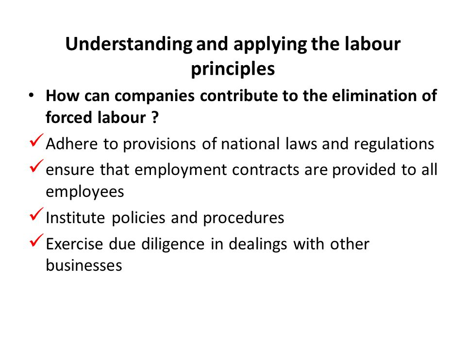 How can companies contribute to the elimination of forced labour .