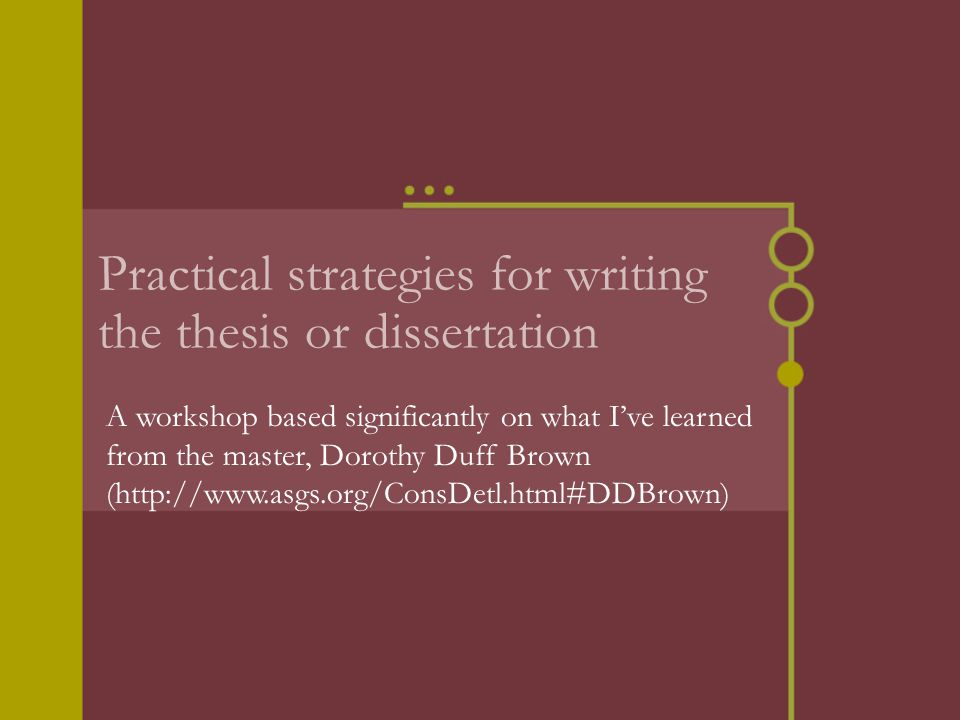 thesis or disertation The publication guidelines for the preparation of your thesis or dissertation is available on the graduate school website and should be used as a guide in the preparation of the thesis students must meet published deadlines for submitting their thesis.