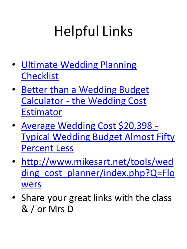 wedding budget percent