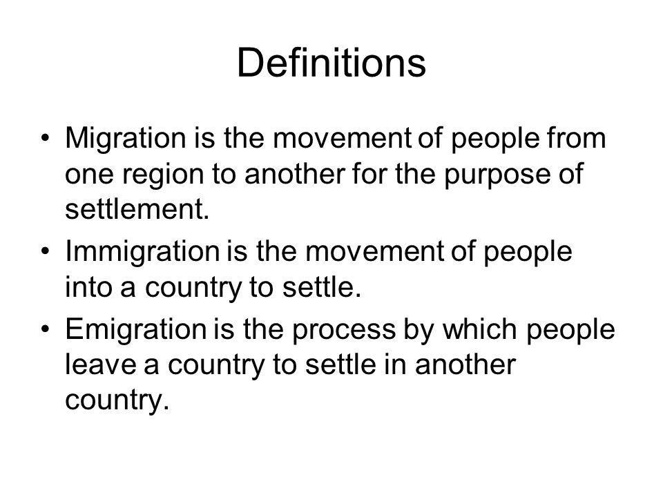3 Definitions Migration ...