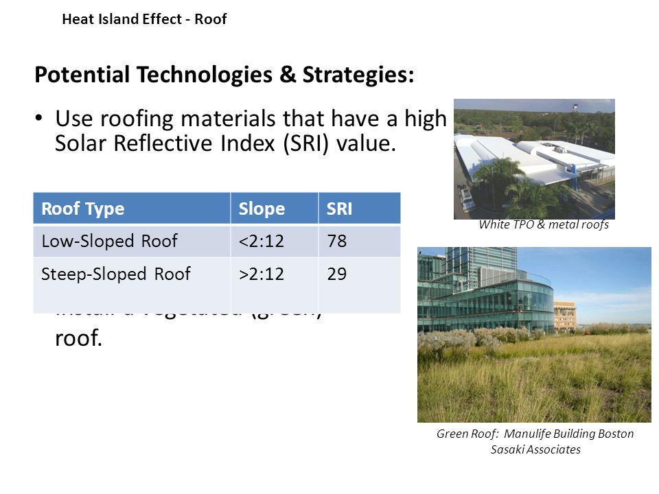 sustainable sites heat island effect intent reduce heat islands