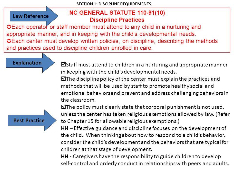 Regulatory Services Section Child Care Center Handbook Child Care ...
