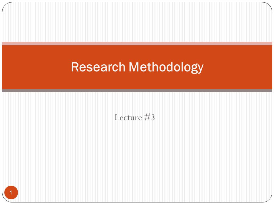 term paper about methodology