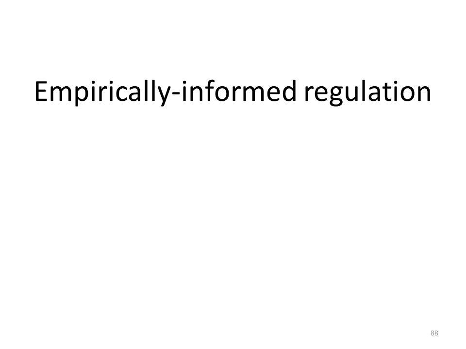 Empirically-informed regulation 88