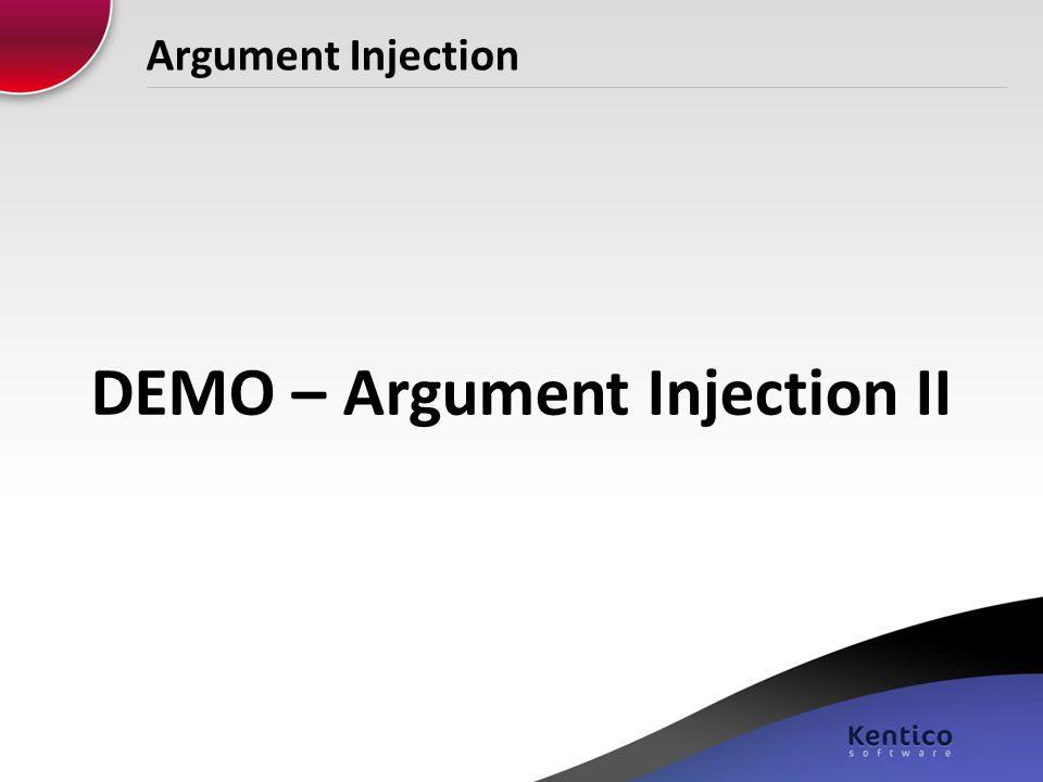 Argument Injection DEMO – Argument Injection II
