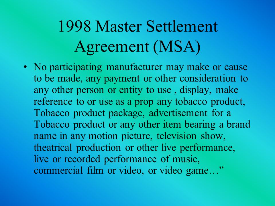 Master Settlement Agreement Us Authorities Are Warning Consumers