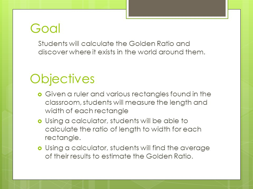 Golden Ratio Worksheet - resultinfos