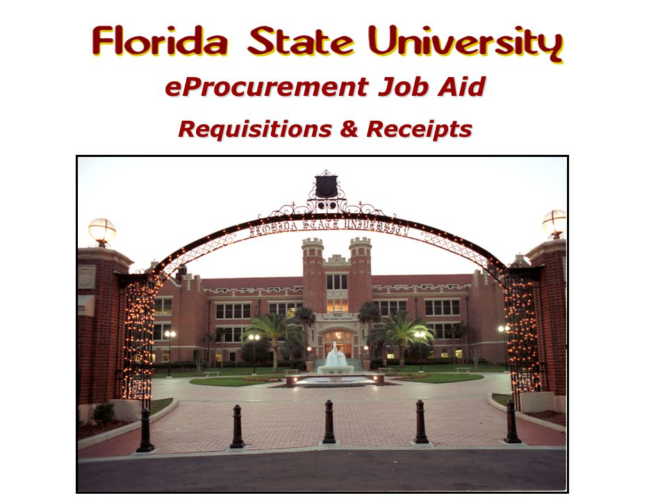 eProcurement Job Aid Requisitions & Receipts
