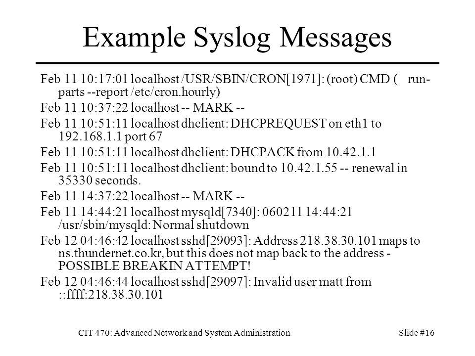 Syslog Format Example Dolapgnetband