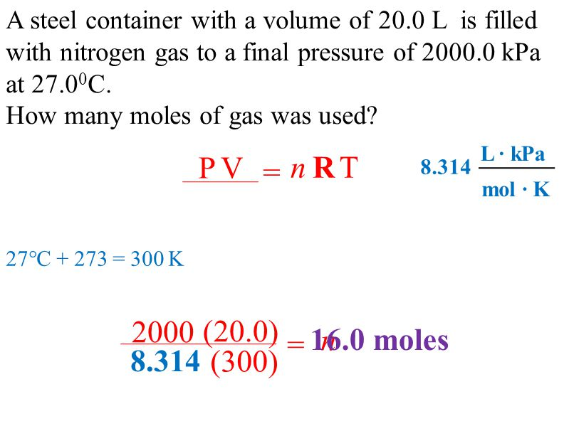 IDEAL gas law. Avogadro ( ) Avogadro's Hypothesis - any sample of ...