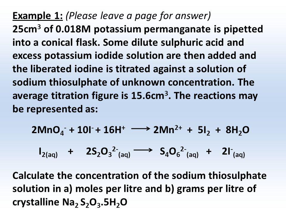 Chpt 15 Volumetric Analysis Oxidation Reduction Ppt Download