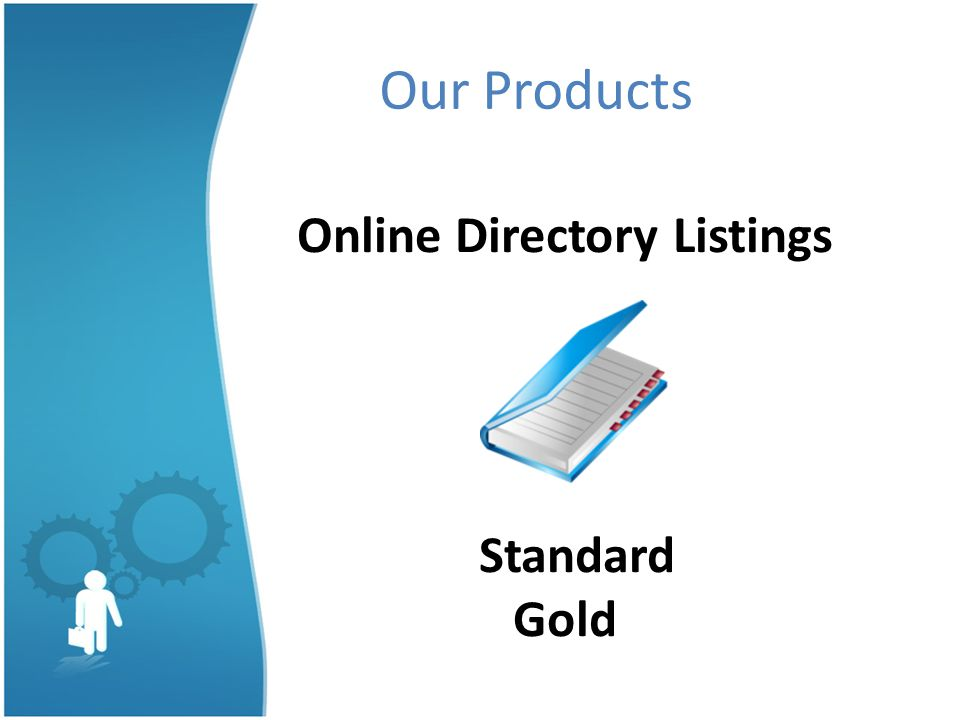Our Products Online Directory Listings Standard Gold