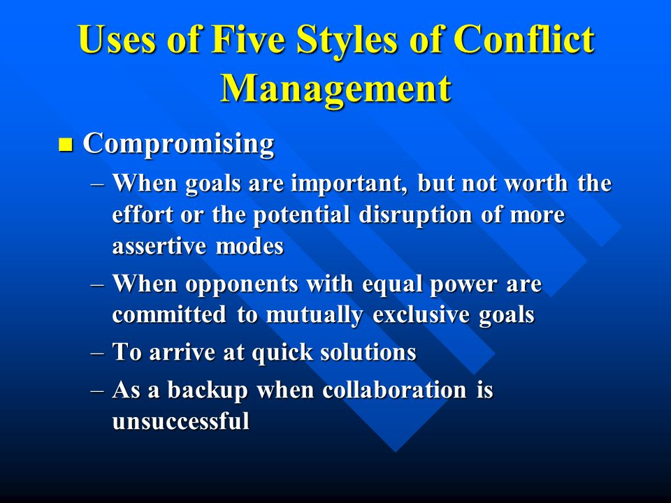 Compromising Conflict Style