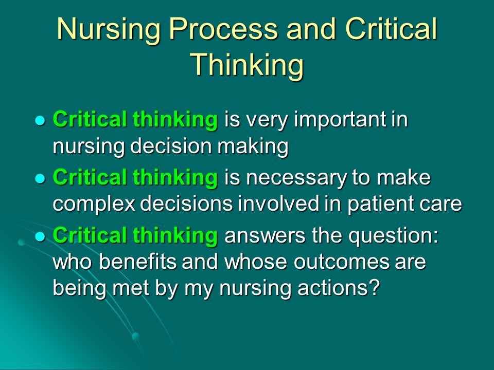 benefits of critical thinking in decision making