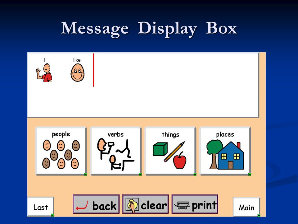Message Display Box This is the Message Display Box