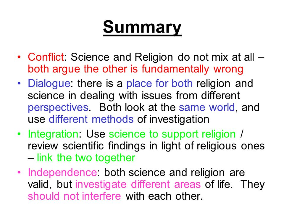 science and religion always conflict essays Conflict Between Science and Religion Essay