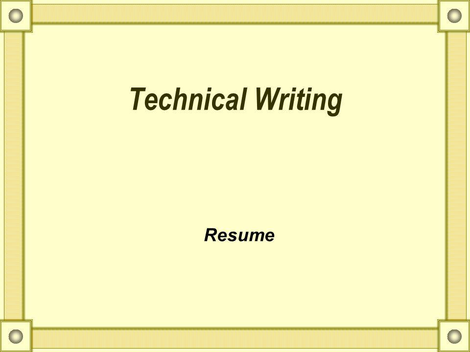1 technical writing resume