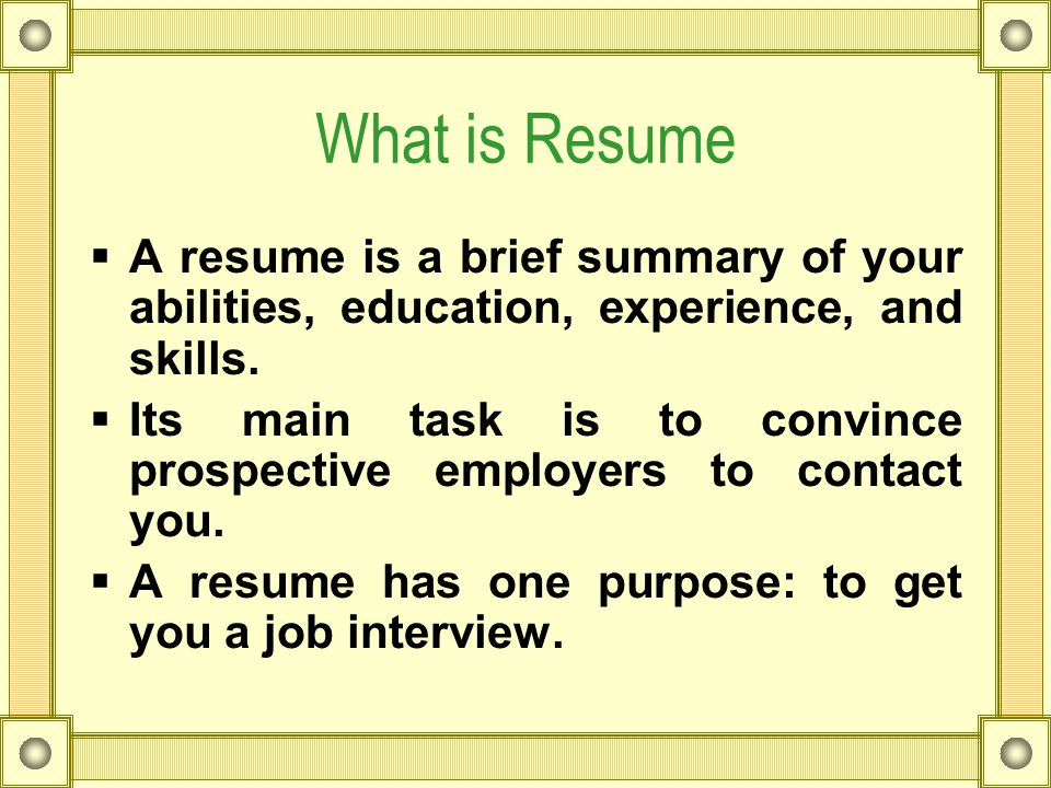 Technical Writing Resume. What Is Resume  A Resume Is A Brief