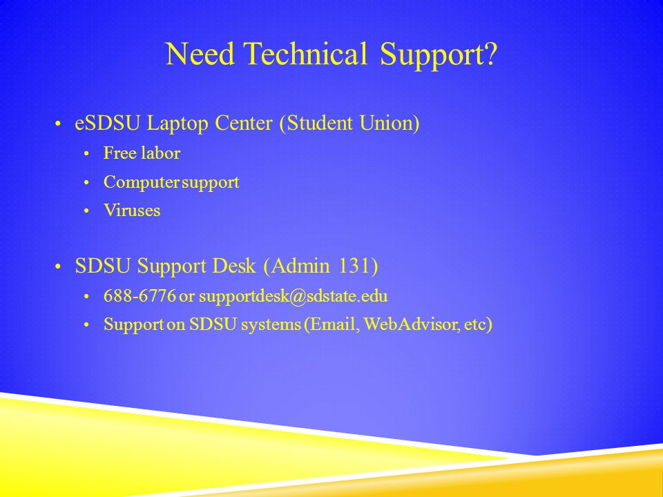 Need Technical Support.