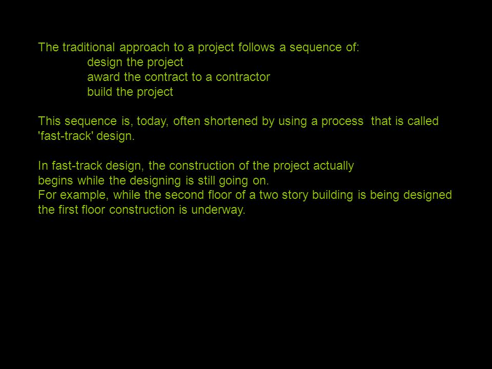 The Traditional Approach To A Project Follows Sequence Of Design Award