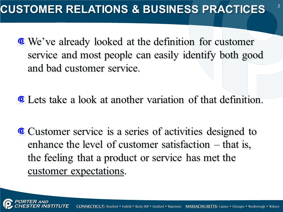 customer relation skills