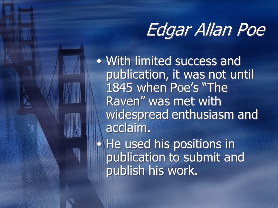 """edgar allan poes dementia essay The raven essay on death and """"the raven"""" by camila canales  death a strong topic, frequently but solemnly discussed however, when i read edgar allan poe's """"the raven"""", i was immediately captivated by the new angle brought to my attention regarding death."""