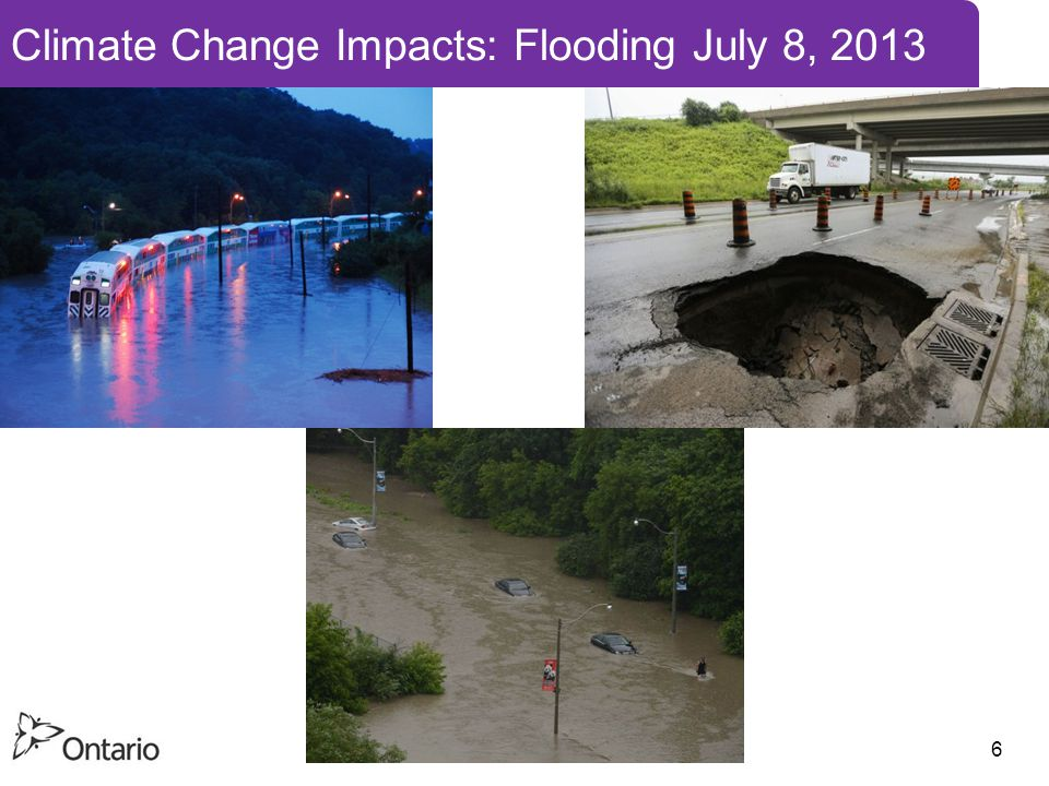 6 Climate Change Impacts: Flooding July 8, 2013