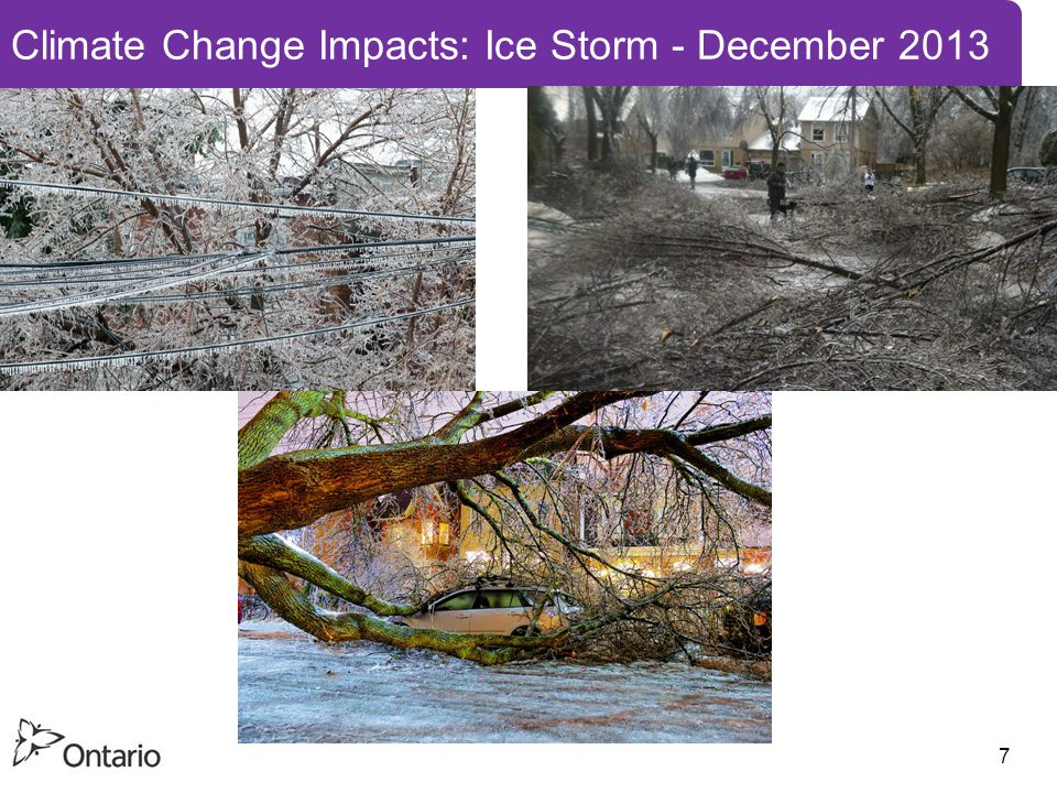 7 Climate Change Impacts: Ice Storm - December 2013