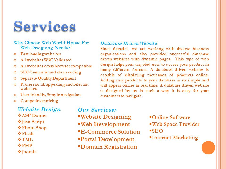 Why Choose Web World House For Web Designing Needs.