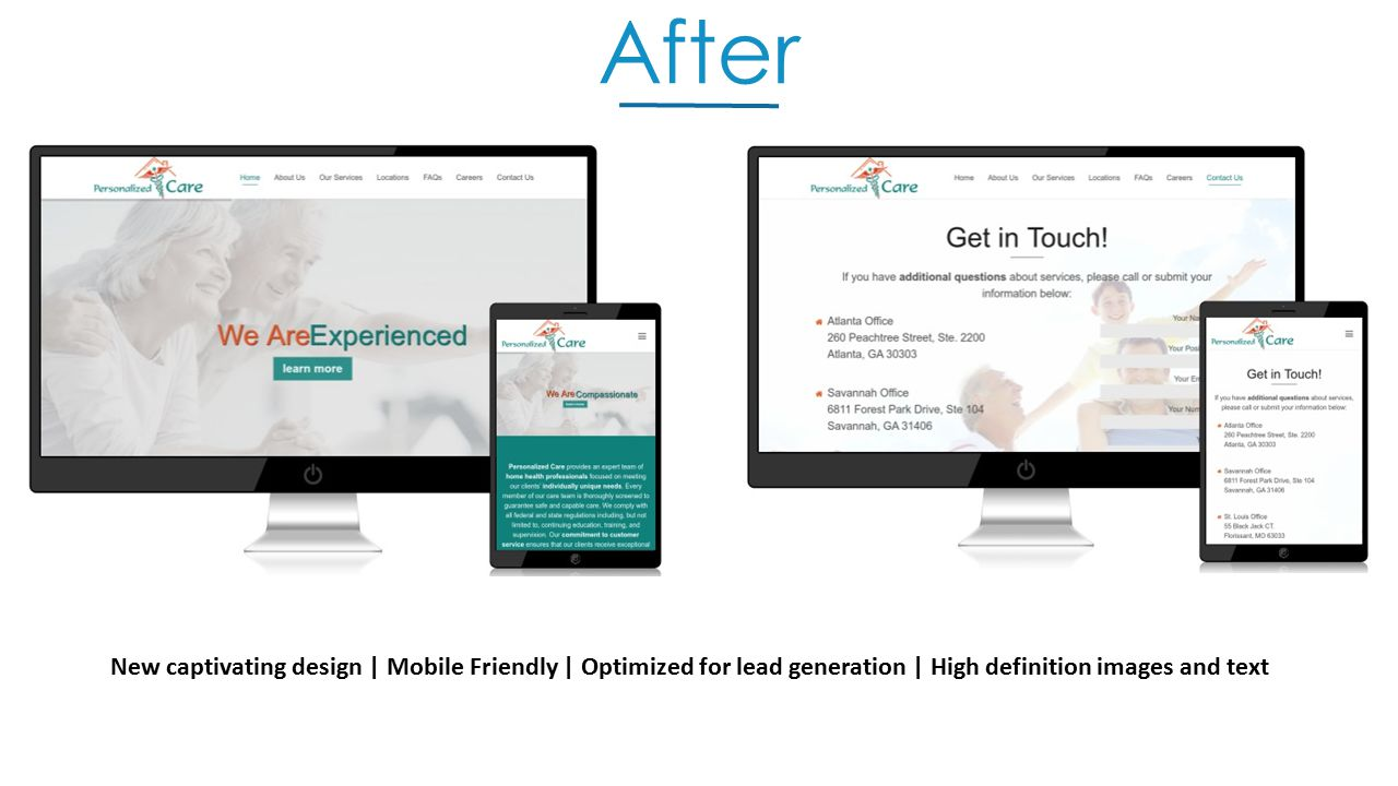 After New captivating design | Mobile Friendly | Optimized for lead generation | High definition images and text