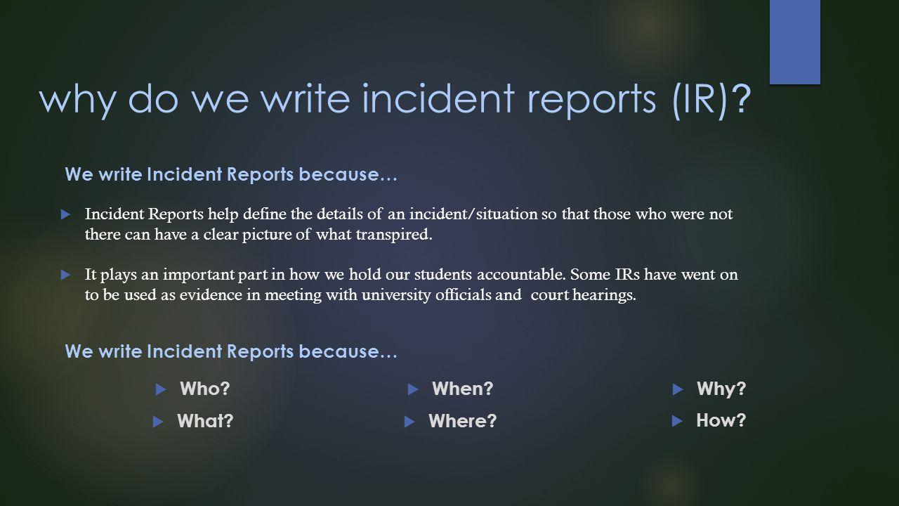 Write Reports