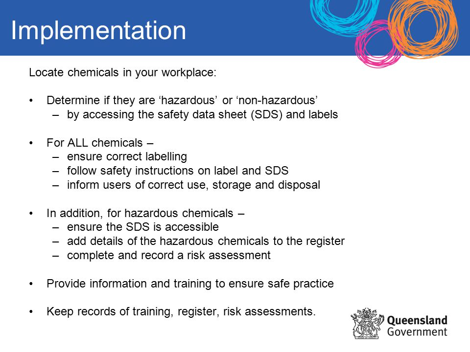 Managing risks with chemicals an induction for department of 11 implementation locate chemicals pronofoot35fo Image collections