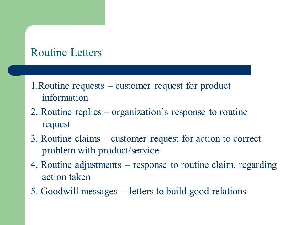 Routine request