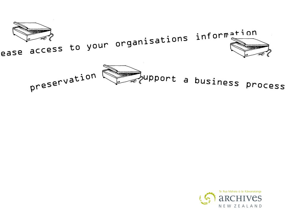 increase access to your organisations information Support a business process preservation