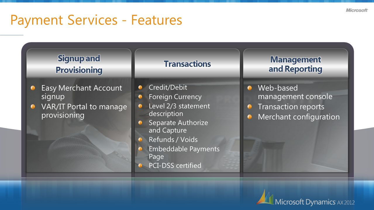 Payment Services - Features