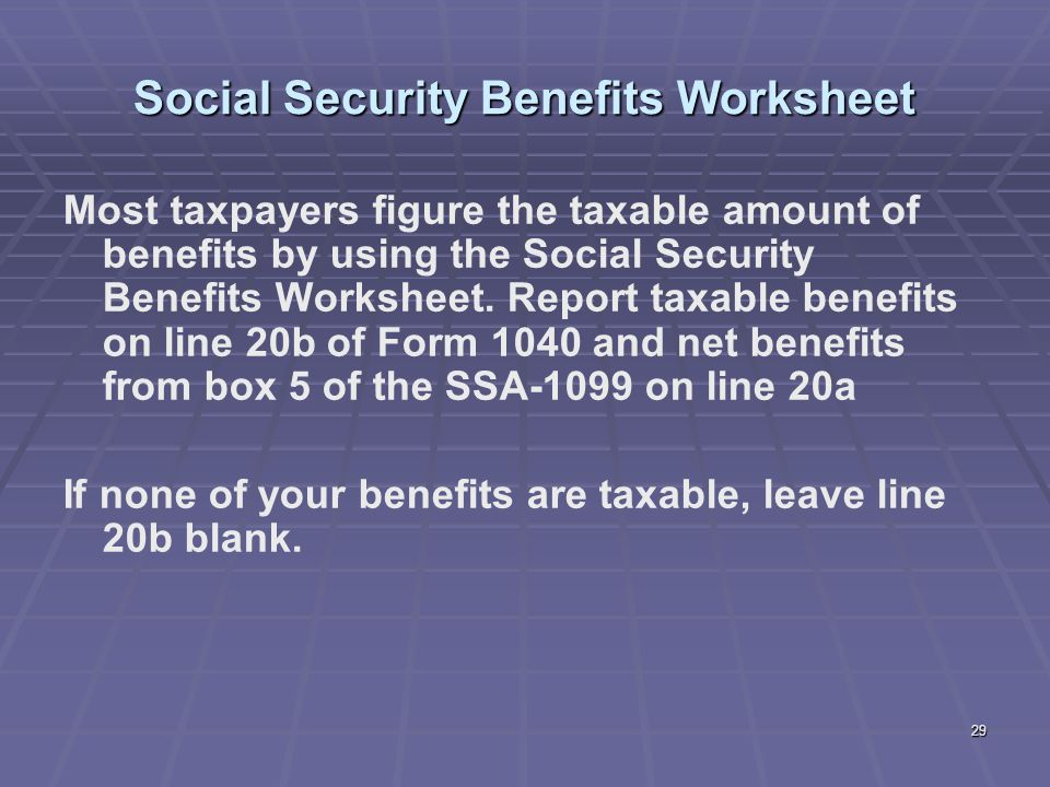 Taxable Social Security Worksheet Rringband – Social Security Taxable Worksheet