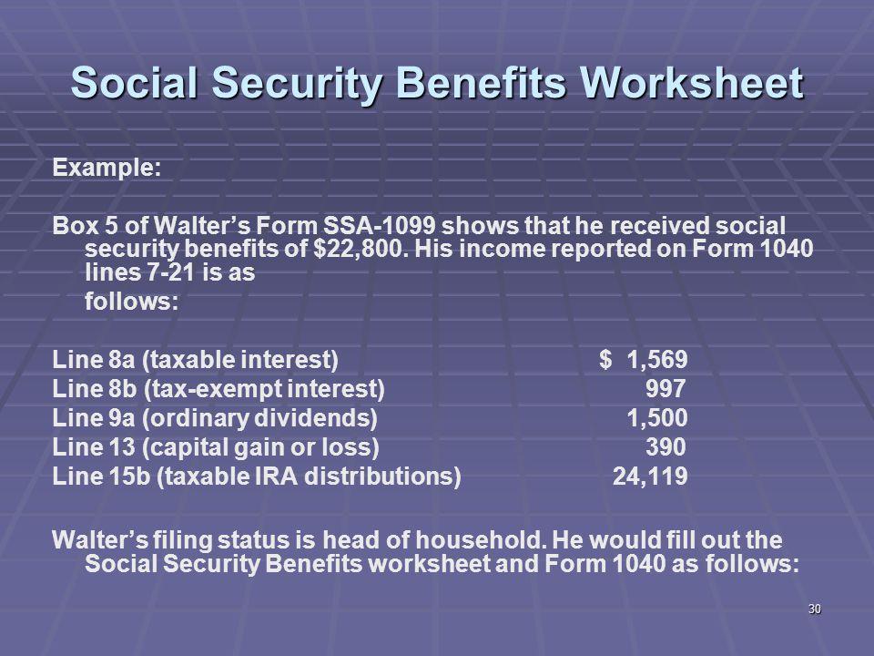 Worksheets Social Security Benefits Worksheet 1040a 1040 social security benefits worksheet delibertad delibertad
