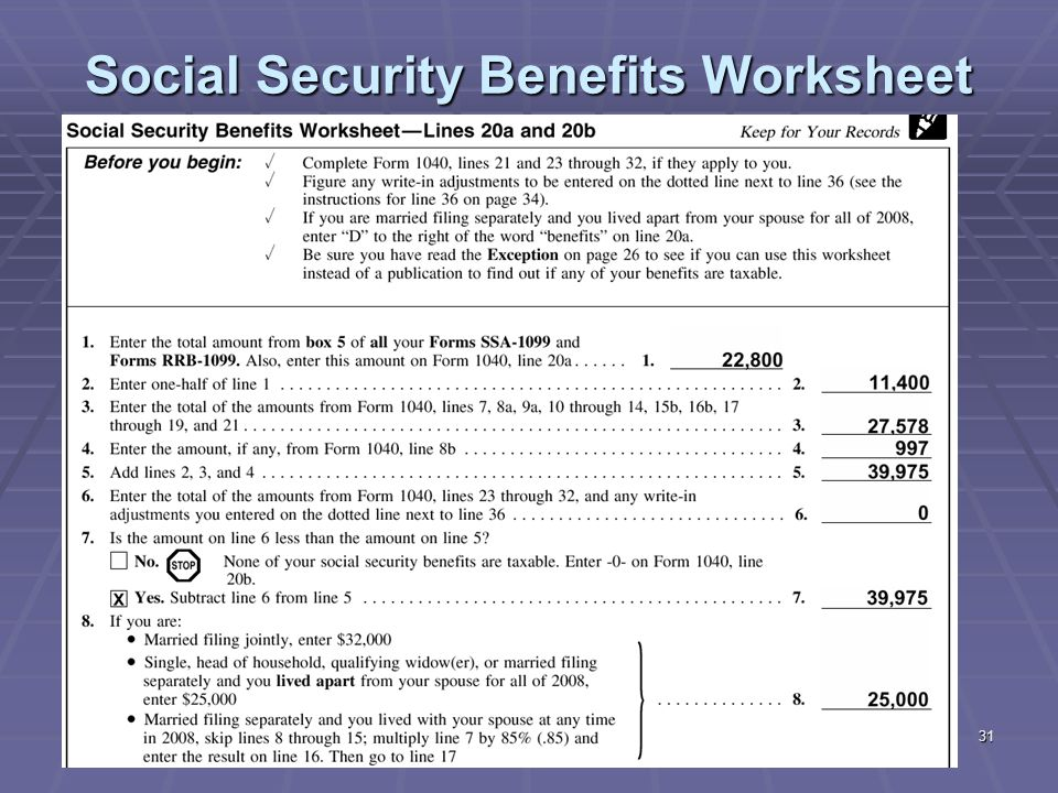 Printables Social Security Tax Worksheet 1 liberty tax service online basic income course lesson ppt 31 social security benefits worksheet