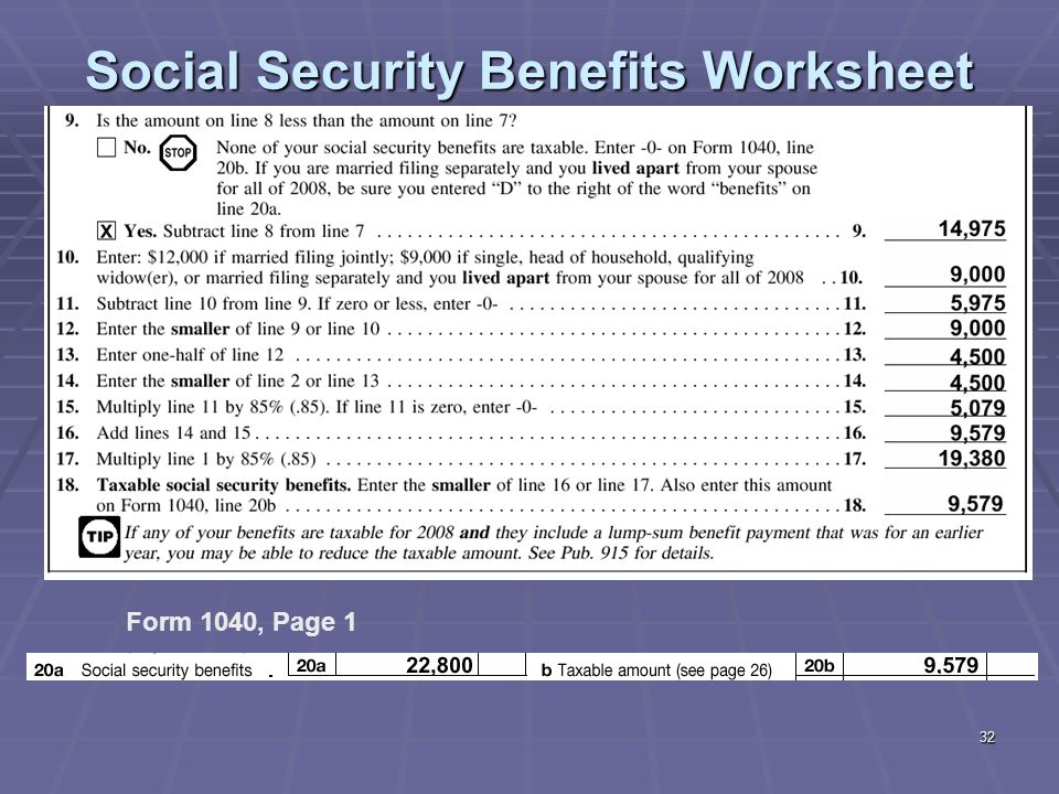 1040 Social Security Benefits Worksheet – Irs Social Security Benefits Worksheet