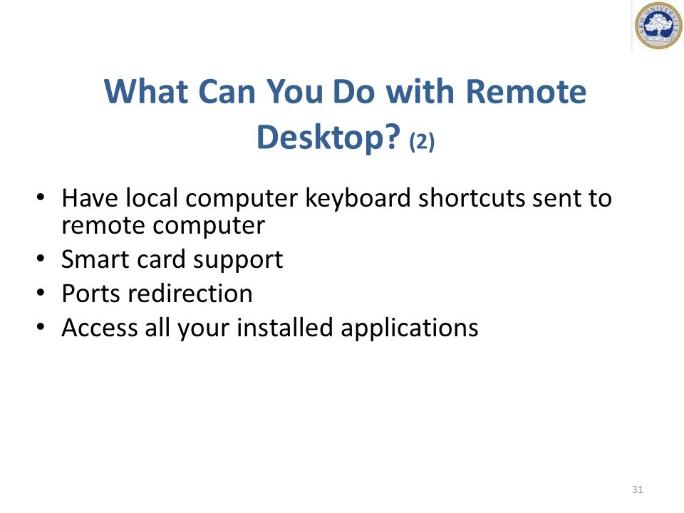 What Can You Do with Remote Desktop.