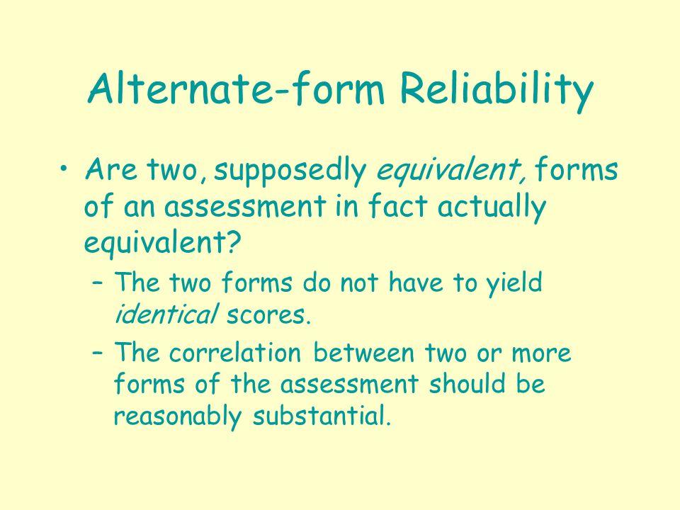 Classroom Assessment Reliability. Classroom Assessment Reliability ...