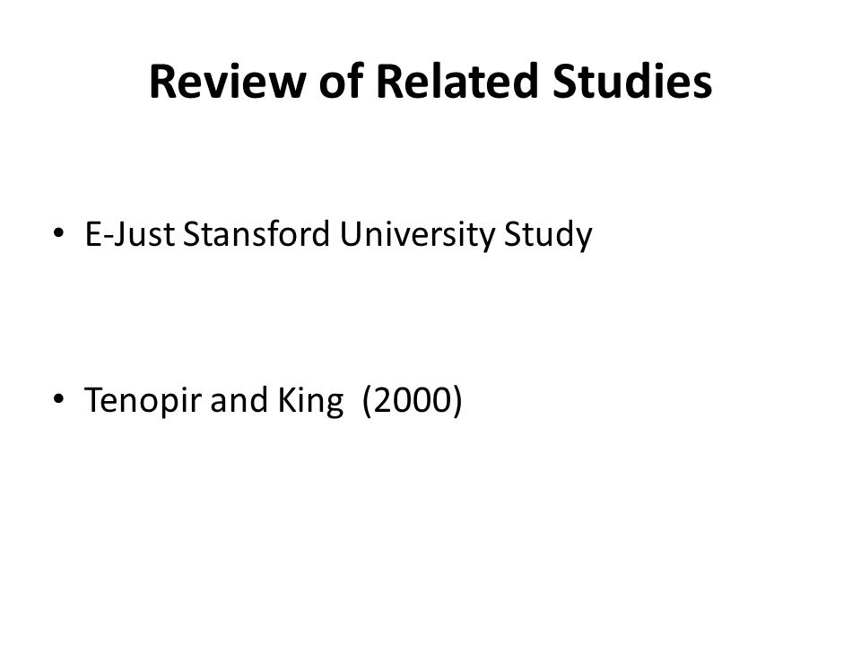 review of related studies